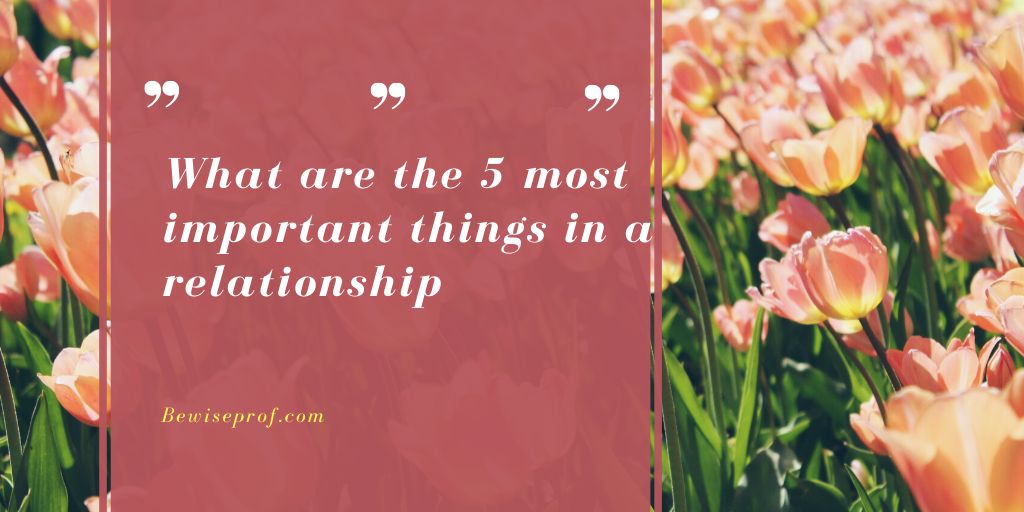 Photo of What are the 5 most important things in a relationship?