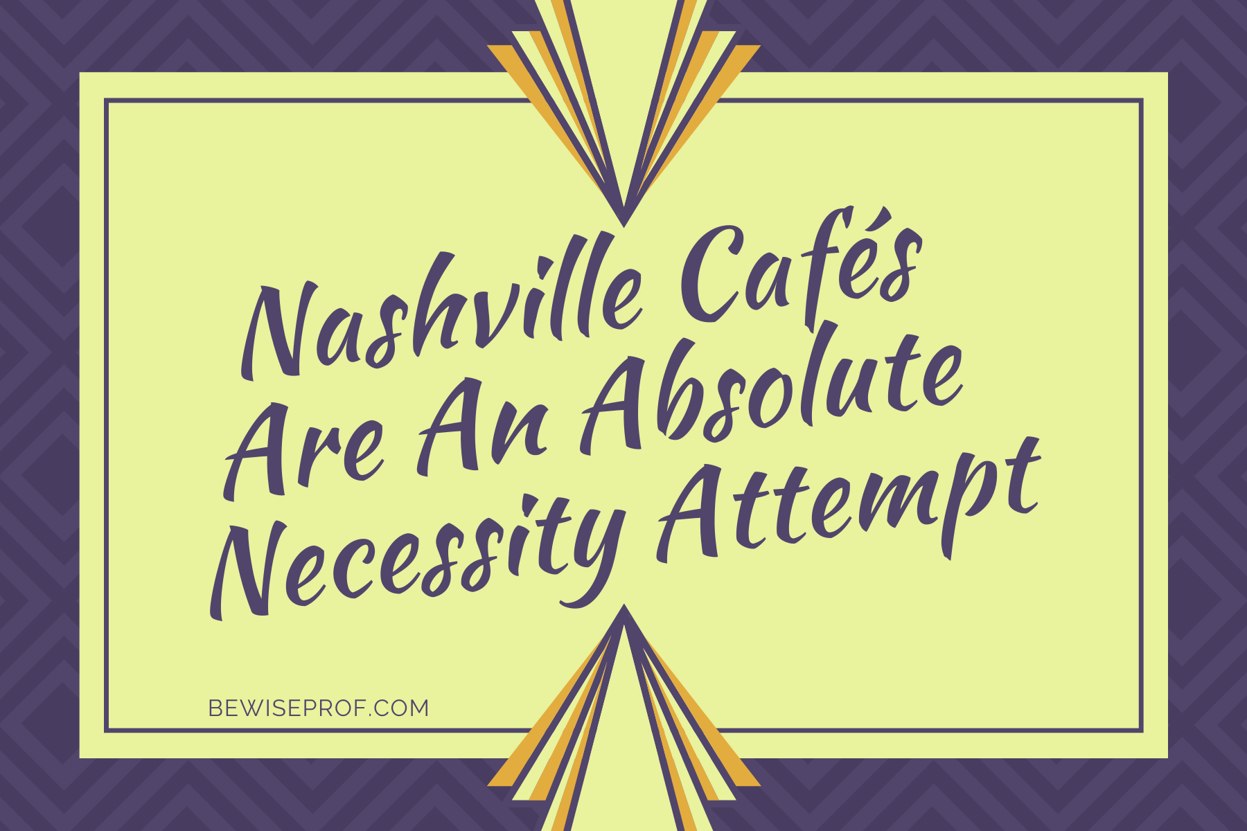 Photo of Nashville cafés are an absolute necessity attempt