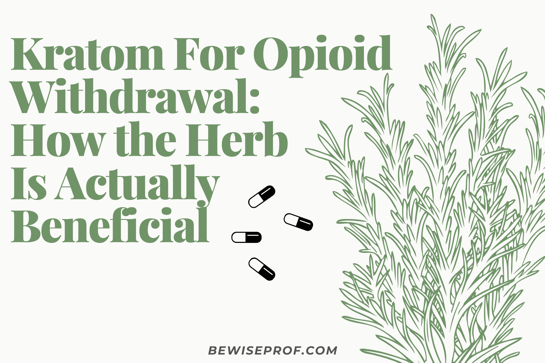 Kratom for Opioid Withdrawal: How the Herb Is Actually Beneficial