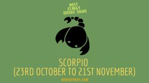 Scorpio (23rd October to 21st November)